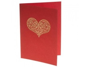 Pack of Embossed Heart Cards 2