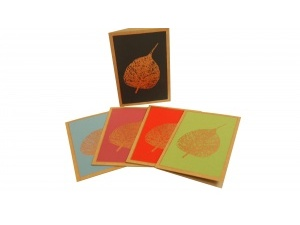 Pack of Peepal Leaf Cards a 1