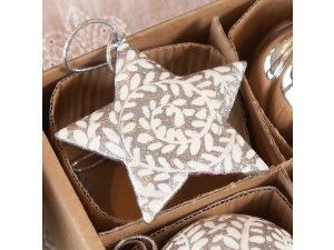 Silver swirl glitter star situational