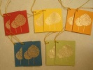 Hand Printed Tree Gift Tags 1